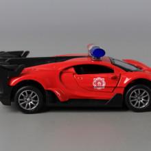 Метална кола със звук, светлина и отварящи се врати (1:32)-PULL BACK