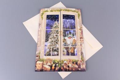 Картичка Прозорец - 3D