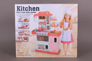 Кухня с пара, течаща вода и продукти сменящи цвета си-76 см.
