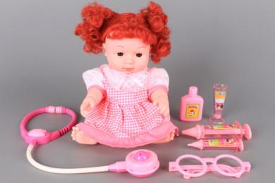 Кукла с различни звуци и докторски принадлежности