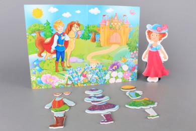 Магнитна игра Облечи принцеса
