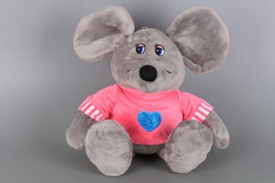 Мишле с блузка със сърце-27 см