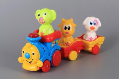 Весело влакче с два вагона и животинки