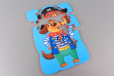 Магнитен пъзел Куче пират - 12 елемента
