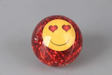 Светещо подскачащо топче Емотикон-6.5 см.