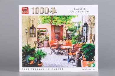 Пъзел Кафе тераса в Европа - 1000 ел.
