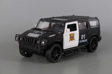 Полицейски джип с отваряеми врати, звук и светлина-фрикционен
