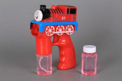 Светещ музикален пистолет за сапунени балончета