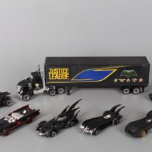 Метален комплект Камион и 6 коли