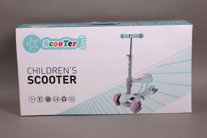 Тротинетка със седалка, светещи колела и родителски контрол-5 в 1