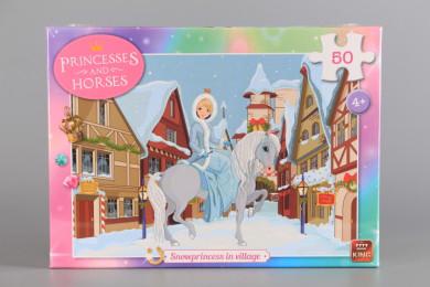 Пъзел Снежна принцеса в селото - 50 ел.
