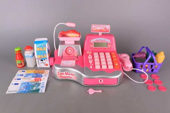 Касов апарат с касова лента и калкулатор