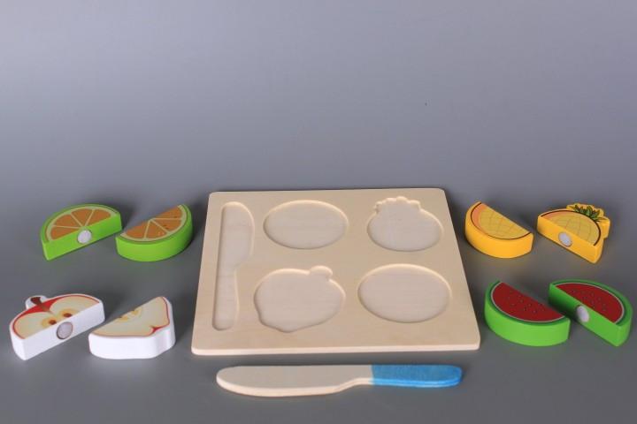 Дървен комплект Хранителни продукти за рязане