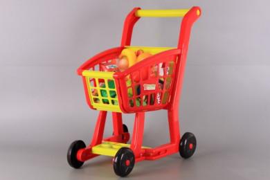 Количка за пазаруване и продукти