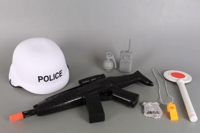 Полицейски комплект с автомат и каска