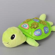 Музикална костенурка със светещи бутони