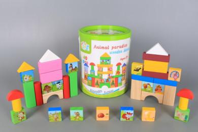 Дървени блокчета в кутия-40 броя