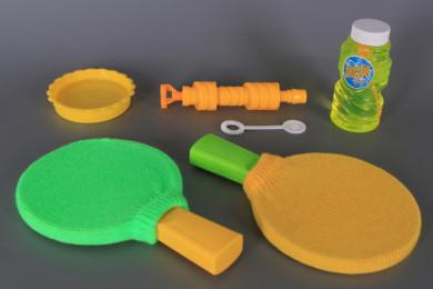 Магически пинг-понг със сапунени балони
