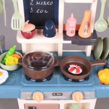 Кухня със светещи котлони, реалистични звуци и течаща вода - 63 см