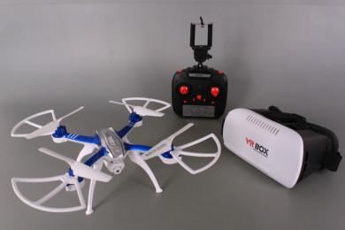 Дрон с камера и WiFi връзка и 3D очила за виртуална реалност (VR box)