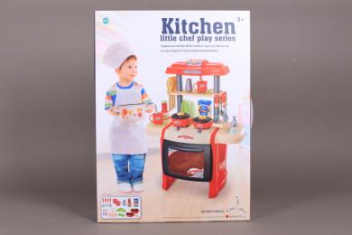 Кухня с течаща вода и светещи котлони-63 см.