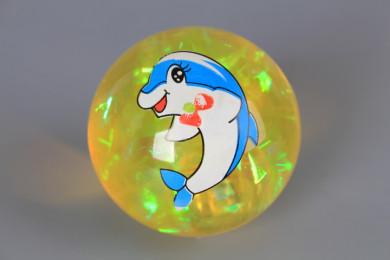 Светещо подскачащо топче - 6.5 см.