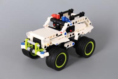 Конструктор Полицейски джип (Pull-Back)-185 елемента