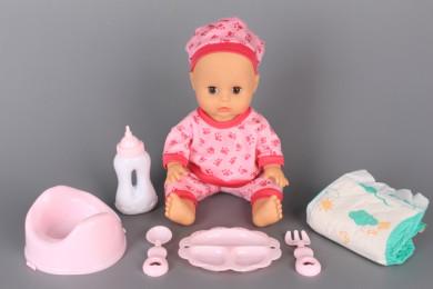 Бебе пишкащо с памперс и гърне