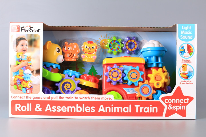 Влак със зъбни елементи и музика