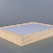 Дървена дъска/ кутия с магнитен пъзел