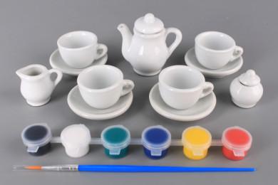 Порцеланов чаен сервиз за оцветяване
