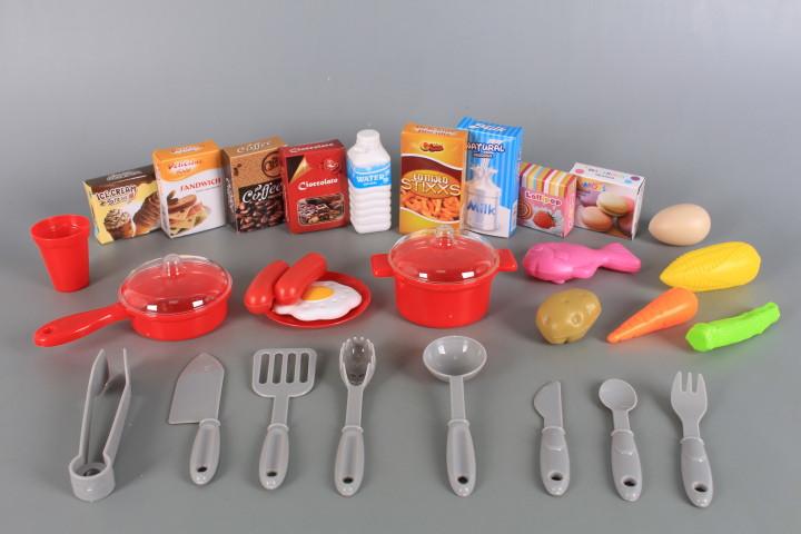 Кухня със светещи керамични котлони, реалистични звуци и мивка с течаща вода-72.5 см