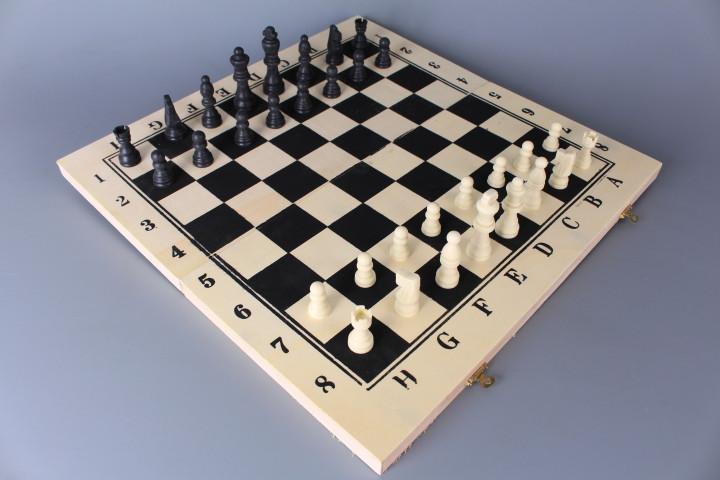Шах дървен - 3 в 1