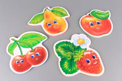 Гумени пъзели Плодове - 4 бр.