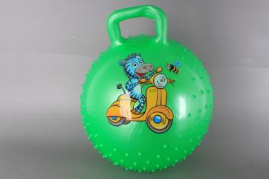 Масажна топка за скачане с дръжка-45 см