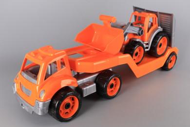 Автовоз с багер челен товарач-64 см.