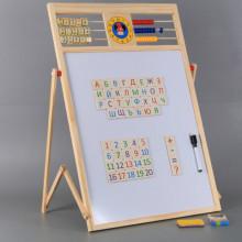 Дървена ученическа дъска ВЕГА с българската азбука, сметало и часовник-2 в 1
