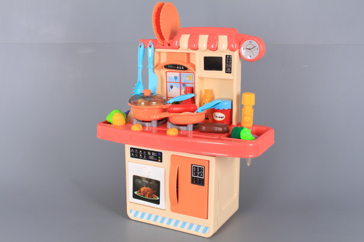 Кухня със светещи котлони, реалистични звуци и течаща вода-38 см