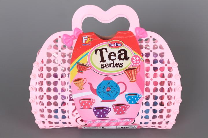 Чаен комплект в кошничка
