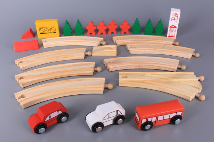 Дървен комплект Път и превозни средства