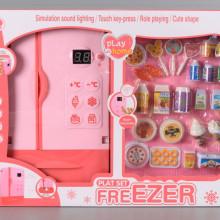Хладилник с дисплей и продукти
