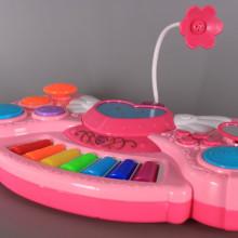 Пиано с микрофон, проектор и светещи тъч клавиши