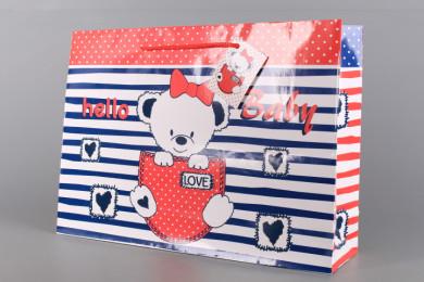 Подаръчна торбичка-бебешка 38*10*27 см