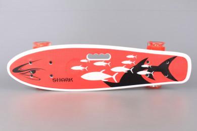 Скейтборд със светещи колела - 55 см