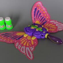 Музикална светеща пеперуда за сапунени балончета