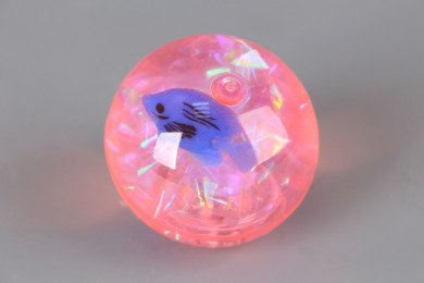 Светещо подскачащо топче Рибка-5.5 см.