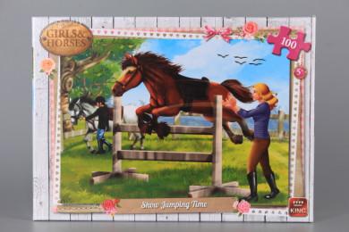 Пъзел GIRLS AND HORSES - 100 елемента