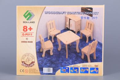 Дървен 3D пъзел -  мебели за кухня