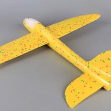 Светещ стиропорен самолет за хвърляне - 47 см.
