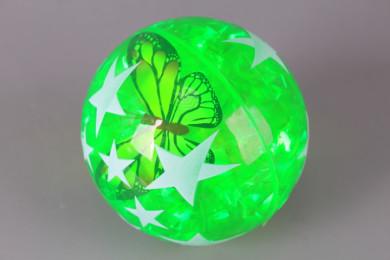 Светещо подскачащо топче Пеперудка-10 см.